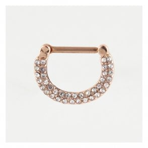Rose Gold Multi Gem Nipple Clicker