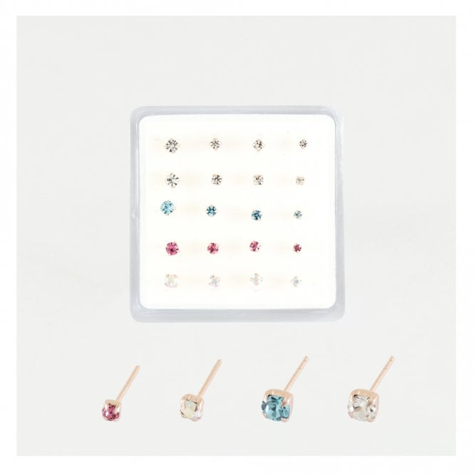 Rose Gold Nose Pins in Assorted Sizes