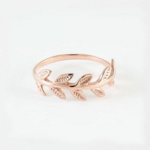 Rose Gold Poison Ivy Ring
