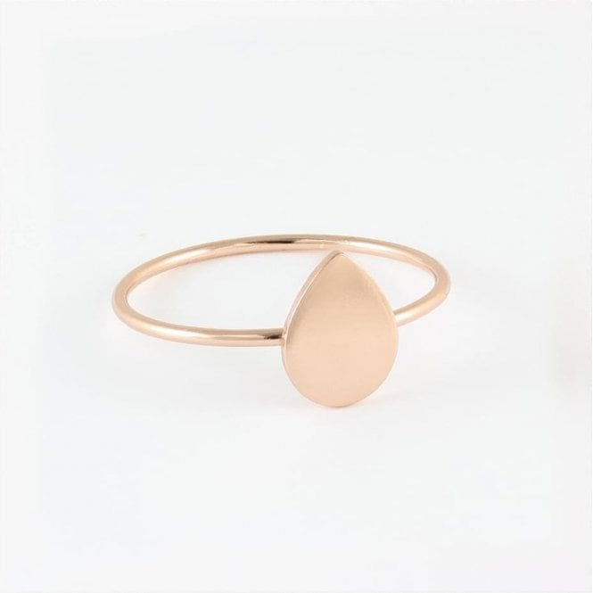 Rose Gold Teardrop Disc Ring
