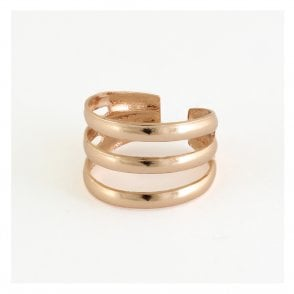 Rose Gold Three Band Toe Ring