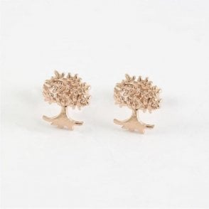 Rose Gold Tree of Life Stud