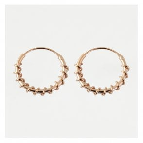 Rose Gold Twist Hoop Earrings