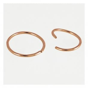 Rose Gold Twist Nose Ring - 8mm/10mm