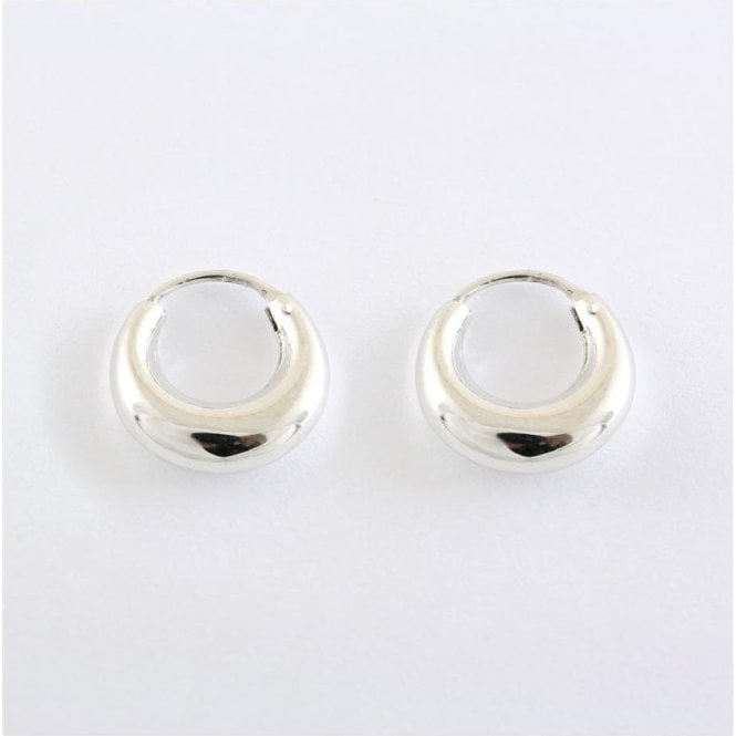 Rounded Hoop Earrings - 14mm