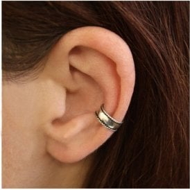 Rounded Ornate Ear Cuff