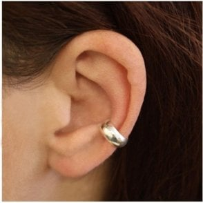 Rounded Silver Ear Cuff