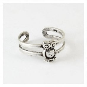 Silver Owl Toe Ring