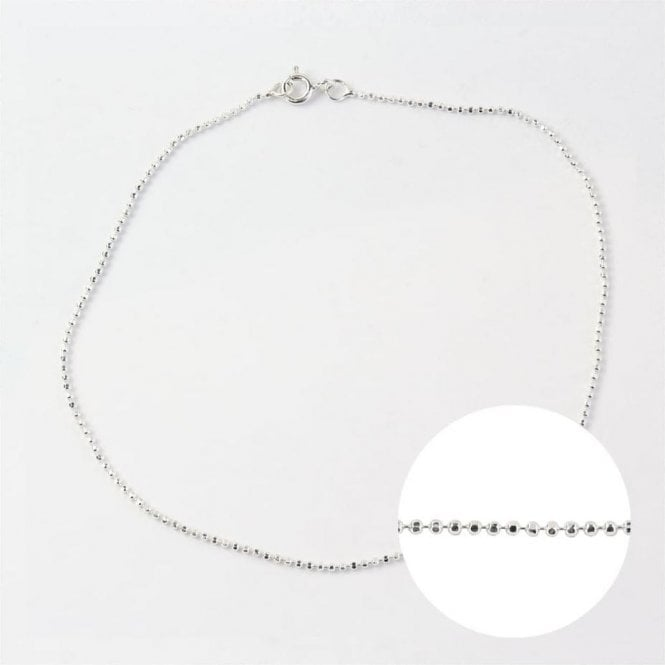 Silver Sparkly Anklet
