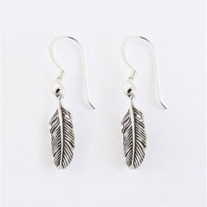 Single Feather Earrings