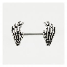 Skeleton Hand Nipple Bar