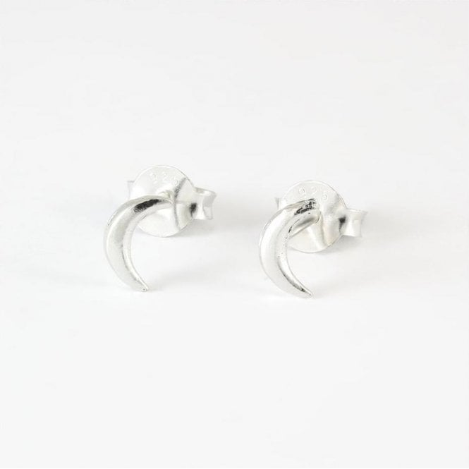 Small Crescent Moon Studs