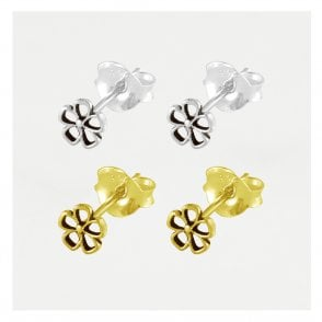 Small Cut Out Flower Ear Stud