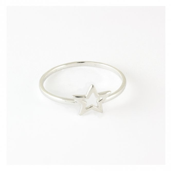 Small Cut Out Star Ring