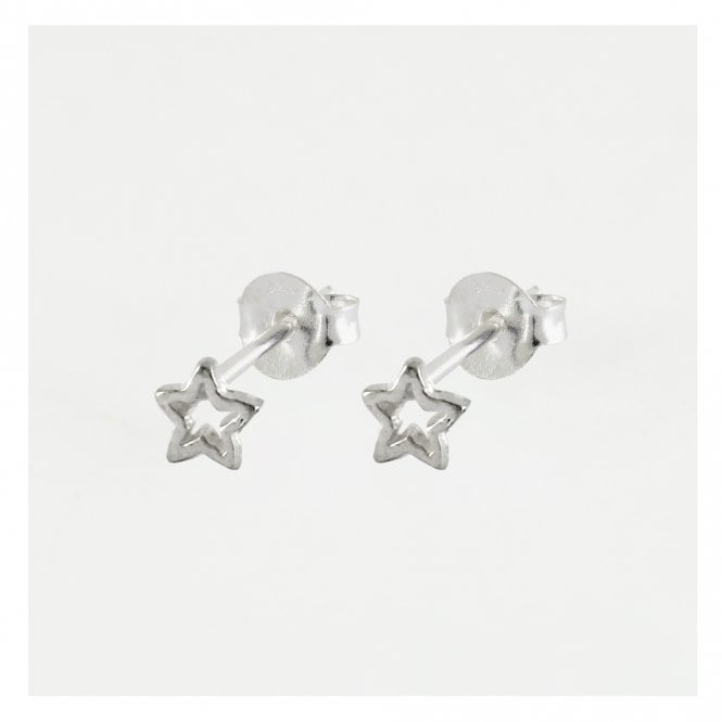 Small Cut Out Star Studs