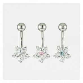 Small Flower Belly Bar