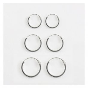 Square Hoop Earring 10 - 14mm