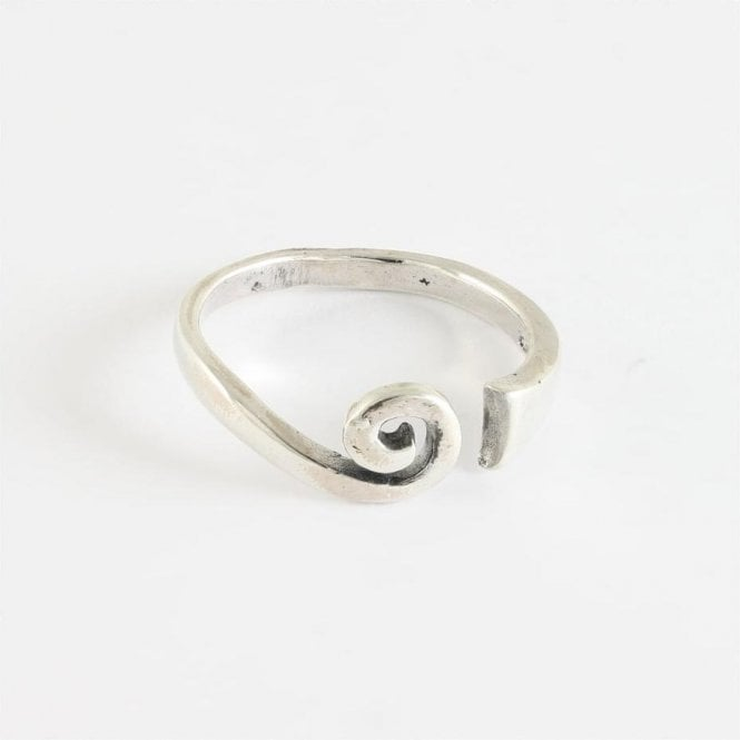 Swirl Toe Ring