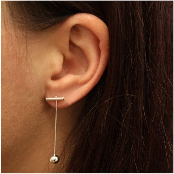 T Bar and Ball Earrings