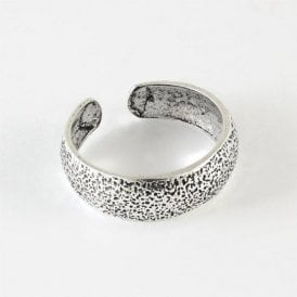 Textured Band Toe Ring