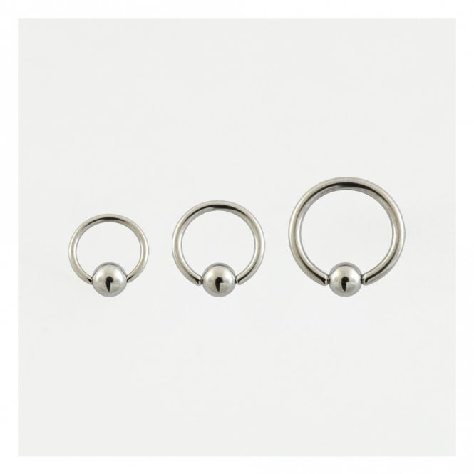 Titanium Ball Closure Ring  (BCR) - 1.2mm & 1.6mm