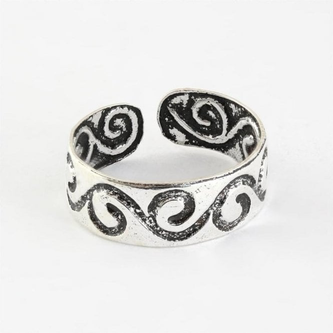 Toe Ring with Dashing Swirls