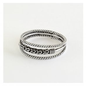 Treble Bali Band Ring