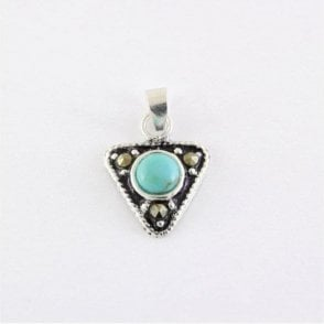 Triangle Pendant Set with Turquoise