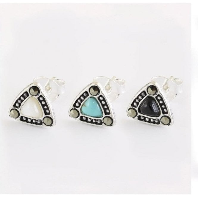 Triangle Stone Set Studs