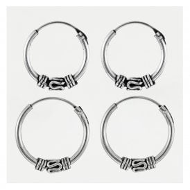 Tribal Bali Hoops 12 - 14mm