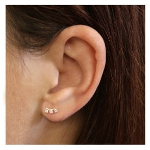 Triple CZ Ear Crawler