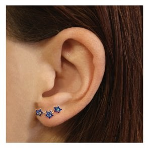 Triple Glitter Star Ear Crawler