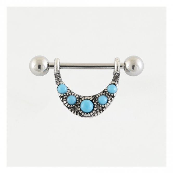 Turquoise Set Nipple Bar