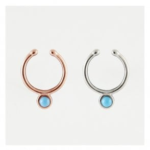 Turquoise Stone Septum Clip On