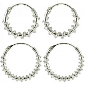 Twist Hoop Earrings 10 - 14mm
