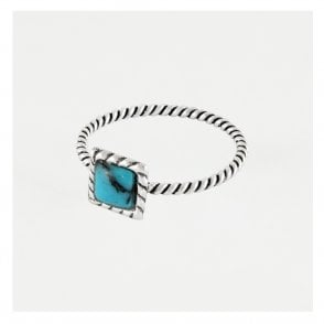 Twist Ring set with Turquoise