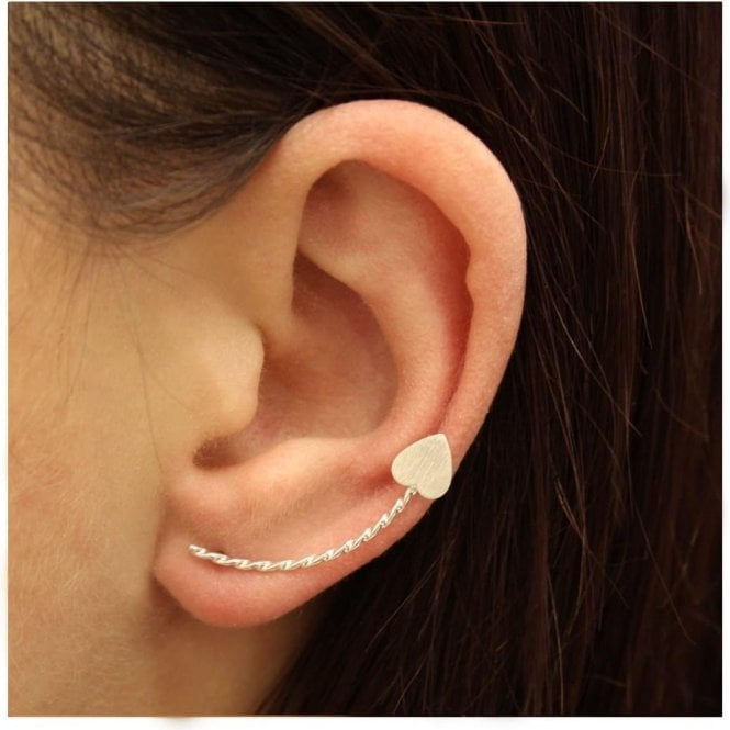 Twisted Heart Ear Climber