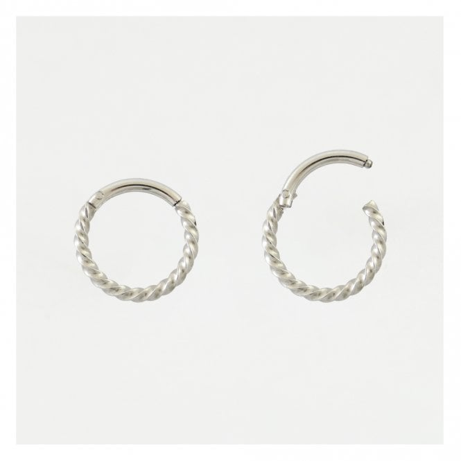 Twisted Hinged Segment Ring - 1.2mm