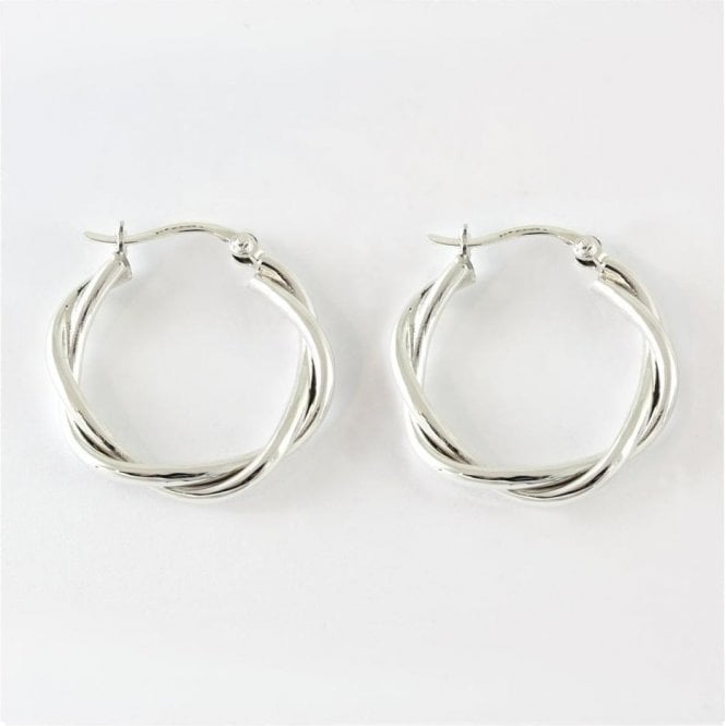 Twisted Hoop Earrings - 25mm