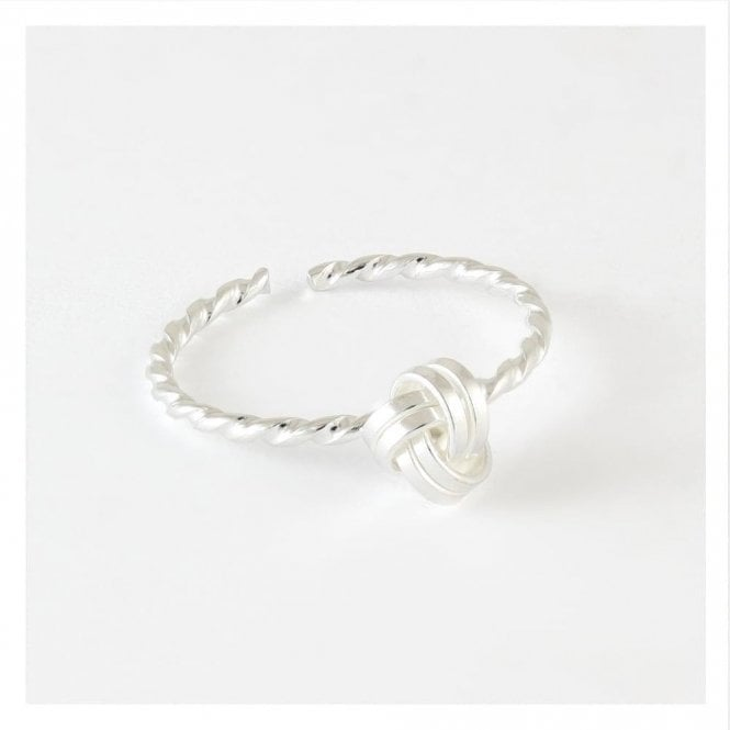 Twisted Knot Toe Ring