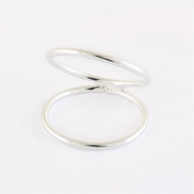 Wide Double Band Ring