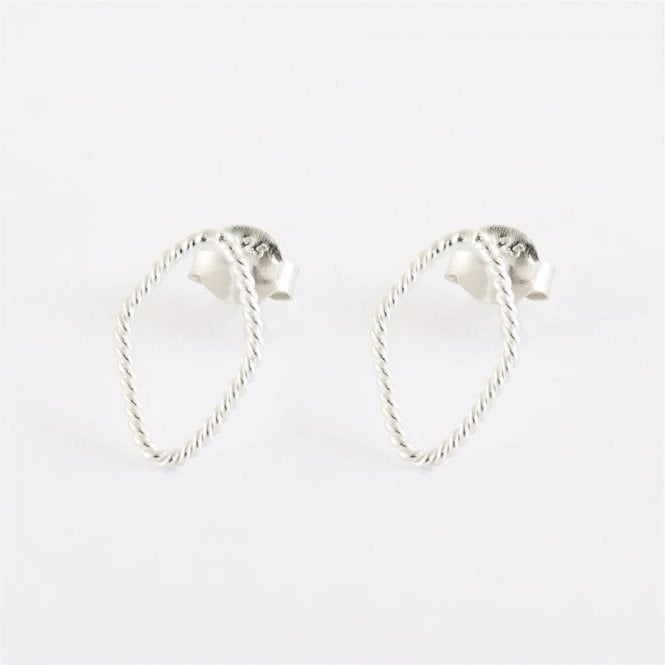 Wire Diamond Ear Studs