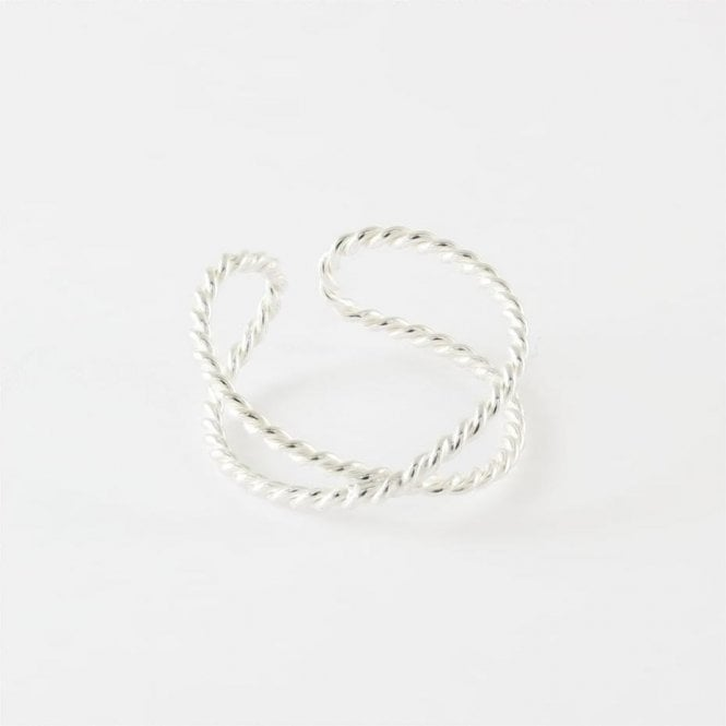 X Double Twisted Toe Ring